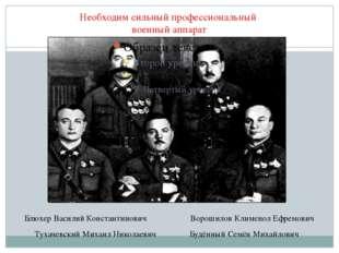 Необходим сильный профессиональный военный аппарат Тухачевский Михаил Николае