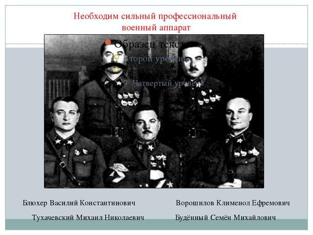 Необходим сильный профессиональный военный аппарат Тухачевский Михаил Николае...
