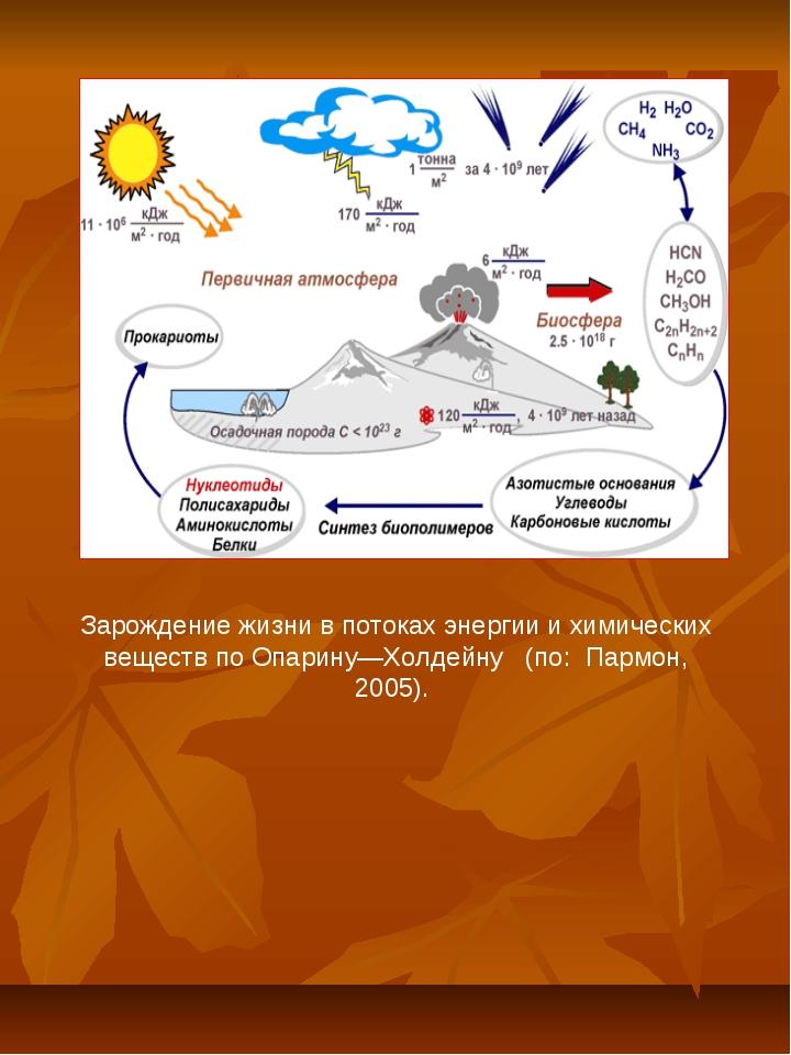 Зарождение жизни в потоках энергии и химических веществ по Опарину—Холдейну (...