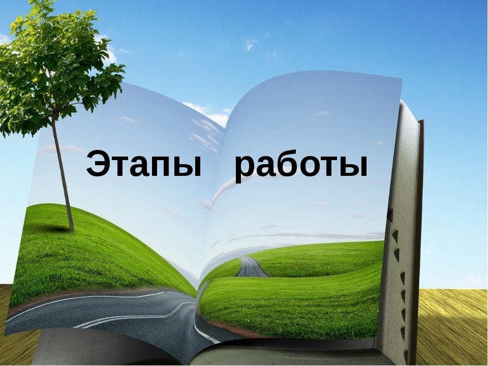 Этапы работы Мы искали информацию в интернете, читали литературу, вели наблюд...