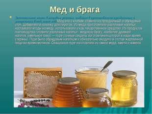 Мед и брага Значительное место в пищевом рационе, особенно в приготовлении пр