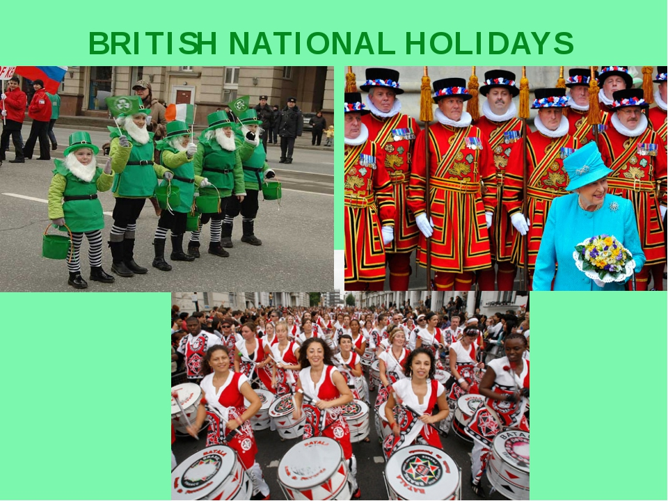 BRITISH NATIONAL HOLIDAYS