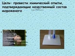 Опыт № 1 Обнаружение белков в мороженом.