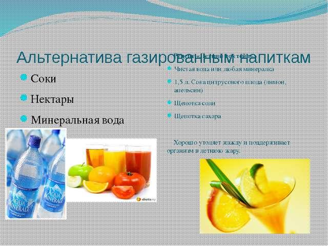 Альтернатива газированным напиткам Соки Нектары Минеральная вода Рецепт «Летн...