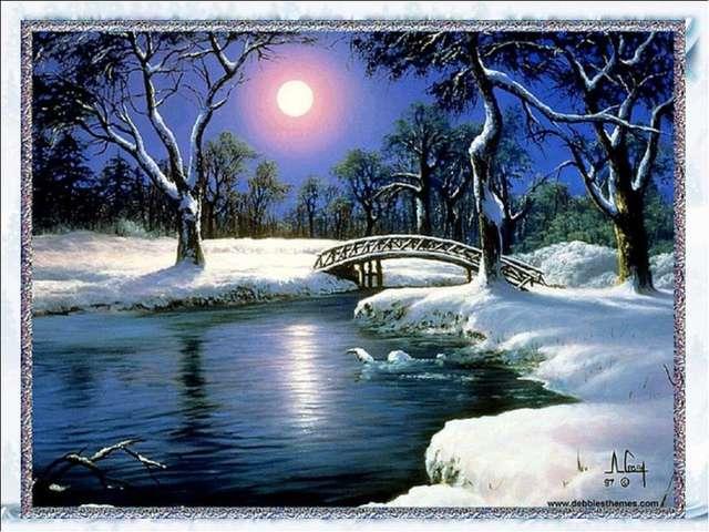 Презентация рисование пейзаж зима 2 класс