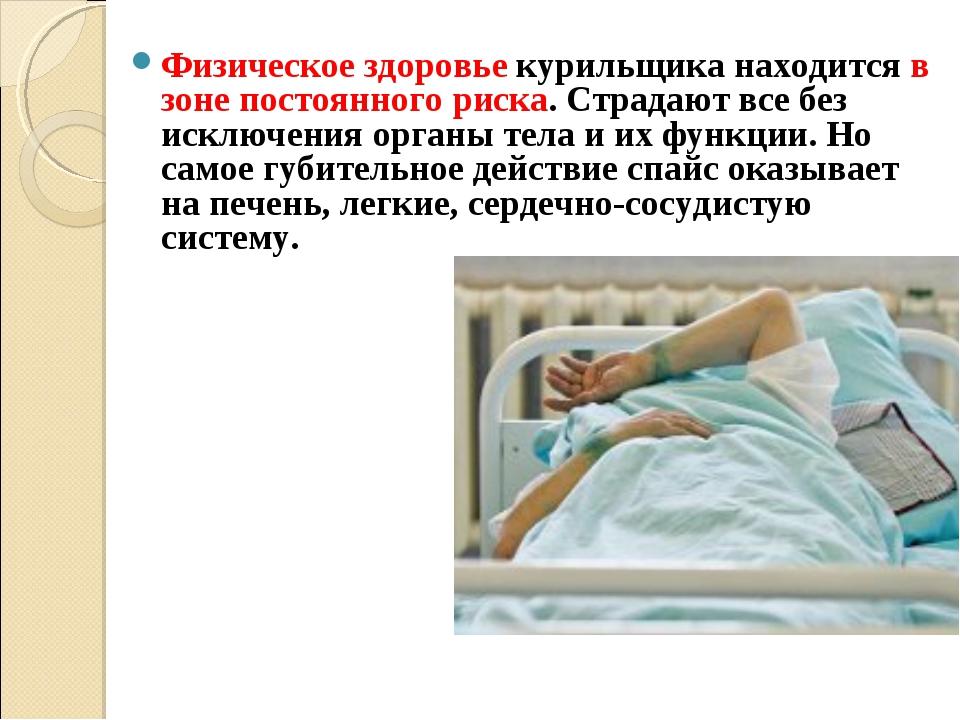 Физическое здоровьекурильщика находится в зоне постоянного риска. Страдают в...