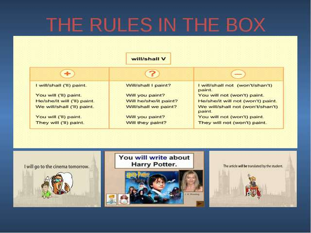 THE RULES IN THE BOX
