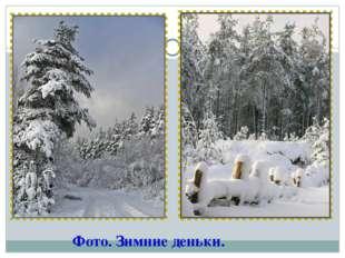 Фото. Зимние деньки.