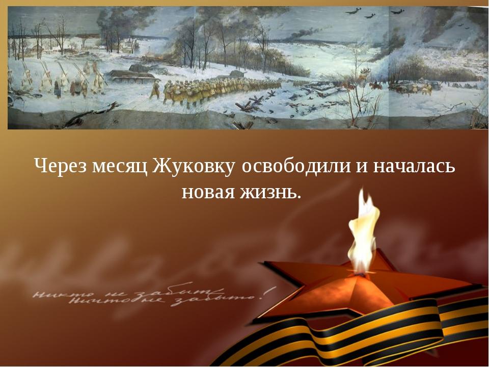 Через месяц Жуковку освободили и началась новая жизнь.