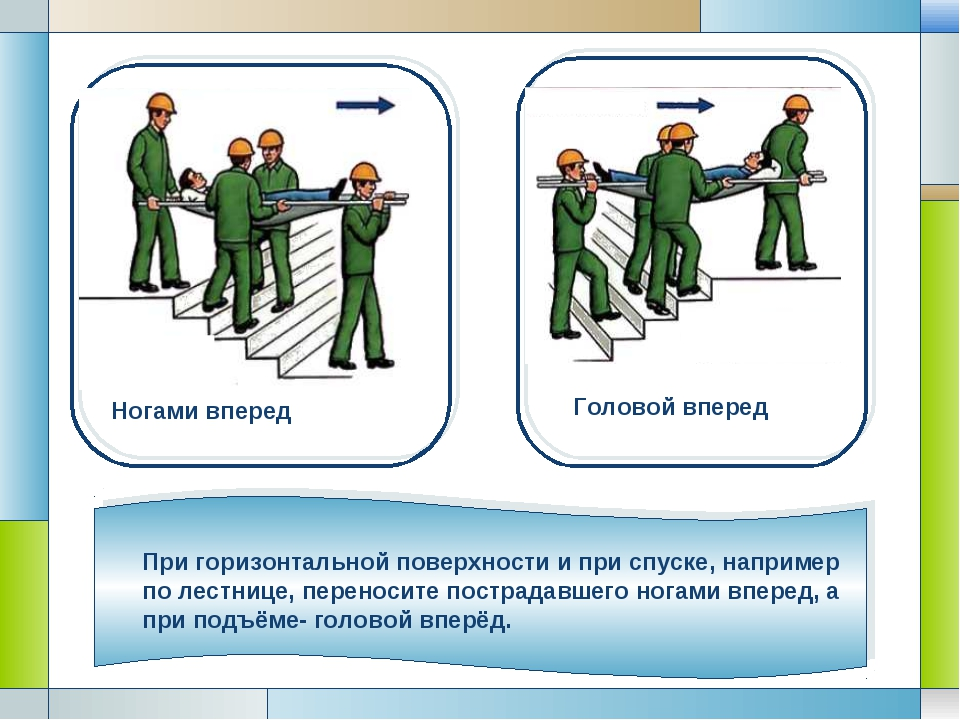 При горизонтальной поверхности и при спуске, например по лестнице, переносите...
