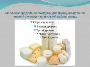 Молочные продукты необходимы для функционирования нервной системы и правильно