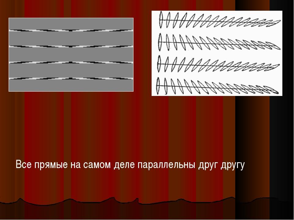Все прямые на самом деле параллельны друг другу