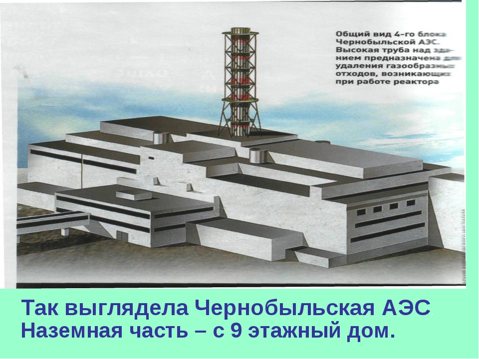 Так выглядела Чернобыльская АЭС. Наземная часть – с 9 этажный дом.