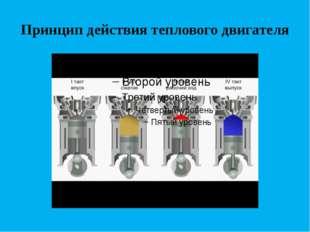 Принцип действия теплового двигателя