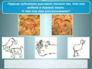 Первые художники рассказывают нам о разнообразии мира животных. Первые художн