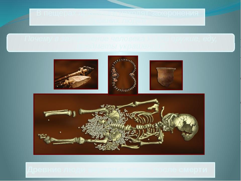 Древние люди верили в жизнь после смерти В пещерах археологи находят захороне...