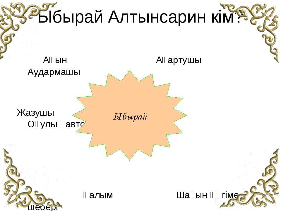 Ыбырай Алтынсарин кім? Ақын  Ағартушы  Аудармашы Ж...