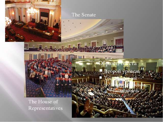 The Senate The House of Representatives
