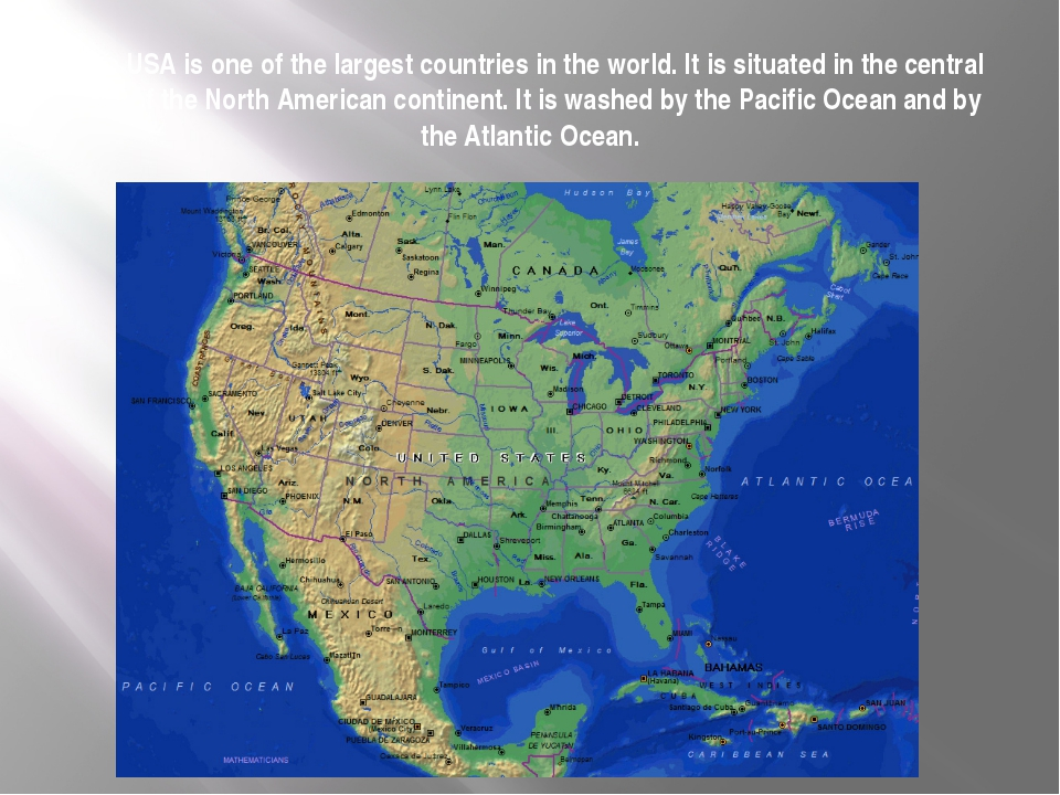 The USA is one of the largest countries in the world. It is situated in the c...