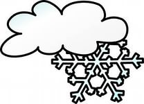 Download Winter Cloud Snow Flake clip art Vector Free