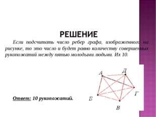 Если подсчитать число ребер графа, изображенного на рисунке, то это число и б