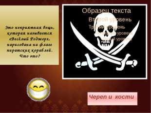 Это неприятная вещь, которая называется «Весёлый Роджер», нарисована на флаге