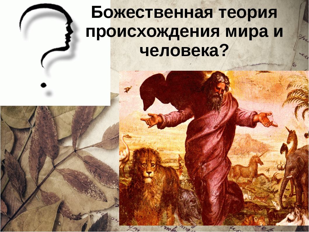 Божественная теория происхождения мира и человека?