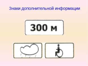 Знаки дополнительной информации