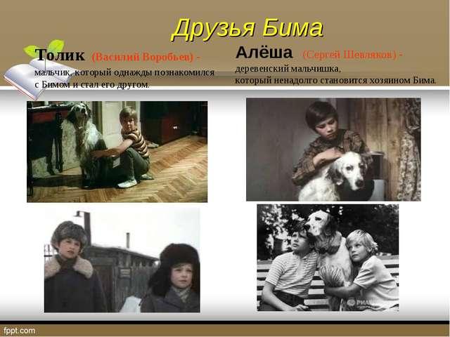 Толик (Василий Воробьев) - мальчик, который однажды познакомился с Бимом и ст...