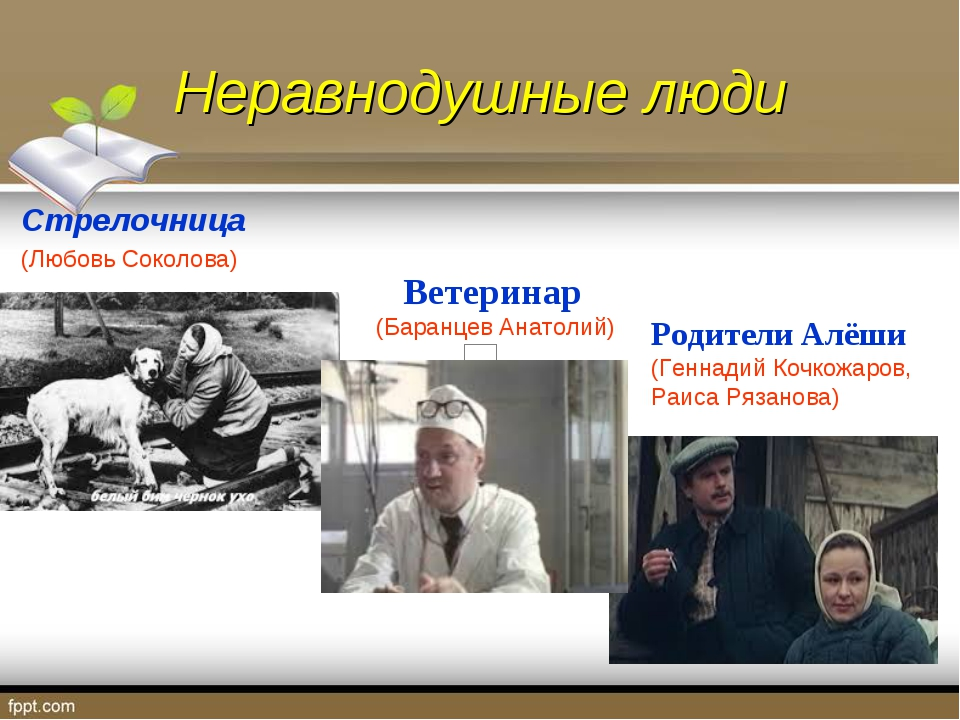 Неравнодушные люди Стрелочница (Любовь Соколова) Ветеринар (Баранцев Анатолий...