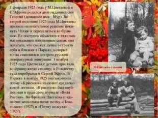 1 февраля 1925 года у М.Цветаевой и С.Эфрона родился долгожданный сын Георги