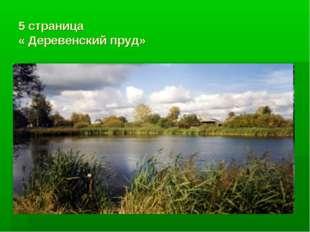 5 страница « Деревенский пруд»