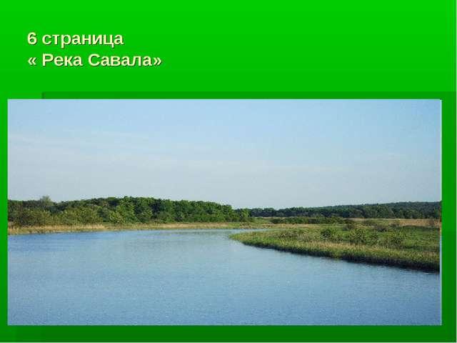 6 страница « Река Савала»