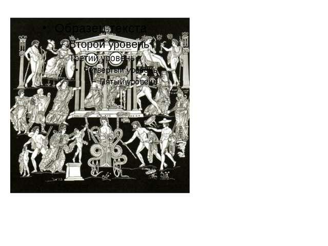 Изображение героев драм и трагедий Еврипида