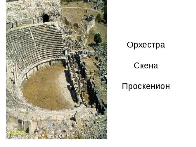 Орхестра Скена Проскенион