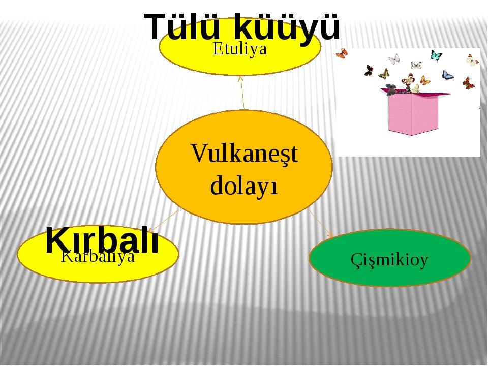 Vulkaneşt dolayı Karbaliya Etuliya Çişmikioy Kırbalı Tülü küüyü
