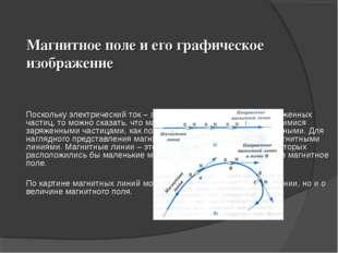 Магнитное поле и его графическое изображение  Поскольку электрический ток –