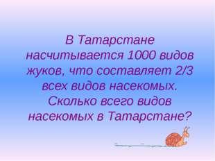 В Татарстане насчитывается 1000 видов жуков, что составляет 2/3 всех видов на