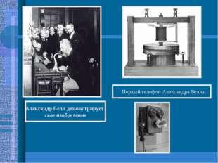 Александр Белл демонстрирует свое изобретение Первый телефон Александра Белла