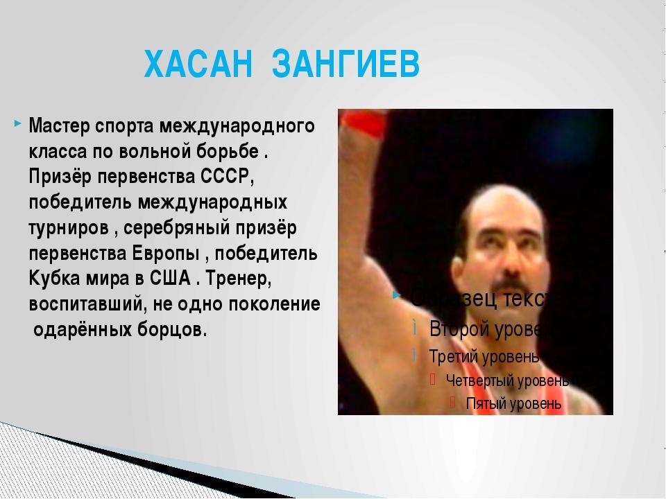 Мастер спорта международного класса по вольной борьбе . Призёр первенства ССС...
