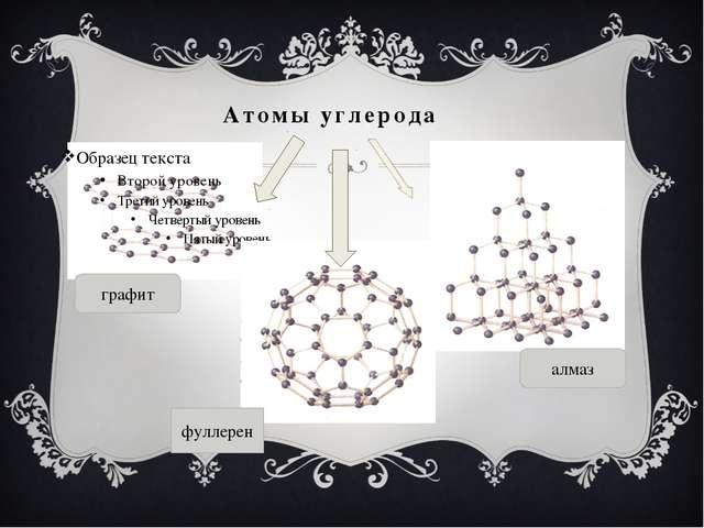 Атомы углерода графит алмаз фуллерен