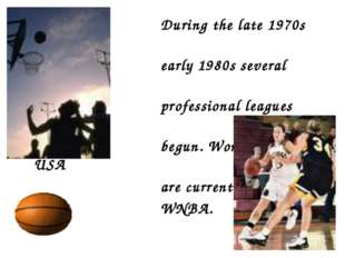 During the late 1970s and early 1980s several women's professional leagues w