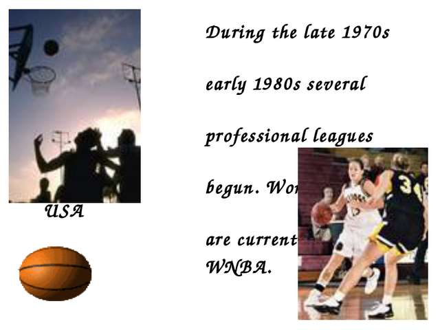 During the late 1970s and early 1980s several women's professional leagues w...