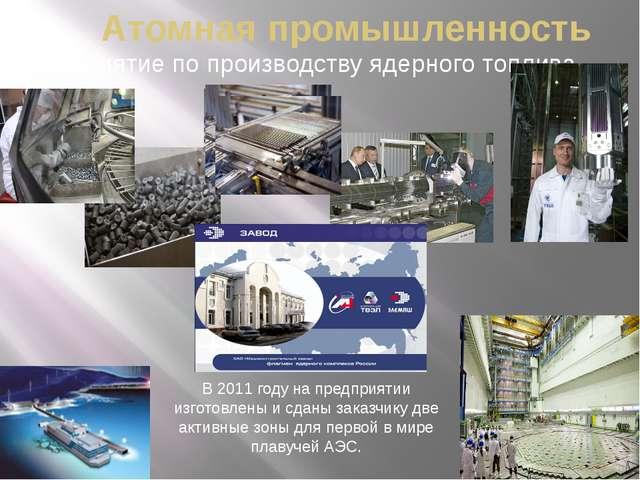 Атомная промышленность Предприятие по производству ядерного топлива В 2011 го...