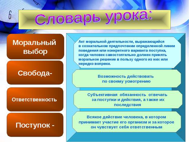 Конспект урока моральный выбор 8 класс