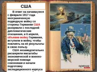 В ответ на начавшуюся с февраля 1917 года неограниченную подводную войну со