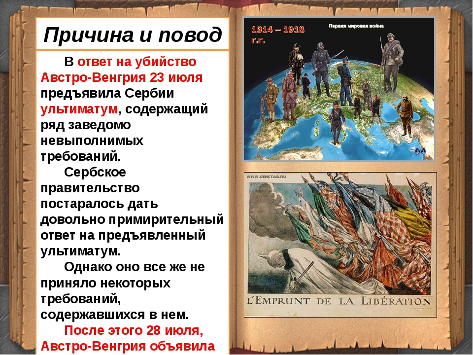 В ответ на убийство Австро-Венгрия 23 июля предъявила Сербии ультиматум, сод...