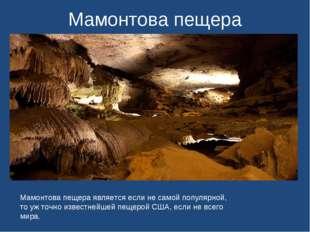 Мамонтова пещера Мамонтова пещера является если не самой популярной, то уж то