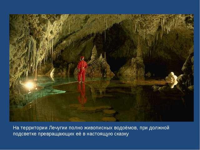 На территории Лечугии полно живописных водоёмов, при должной подсветке превра...