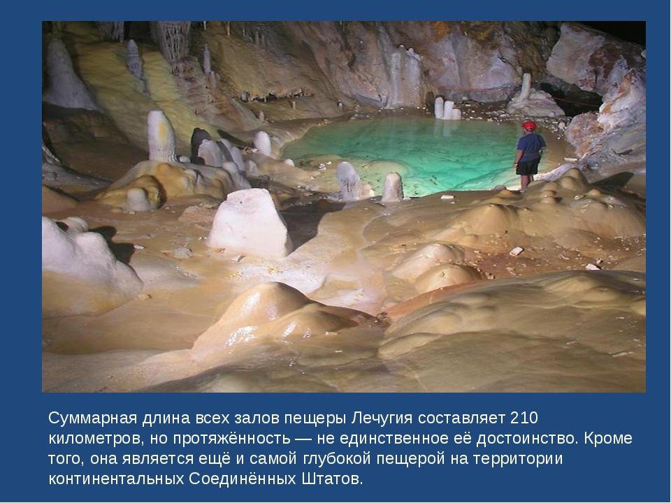 Суммарная длина всех залов пещеры Лечугия составляет 210 километров, но протя...